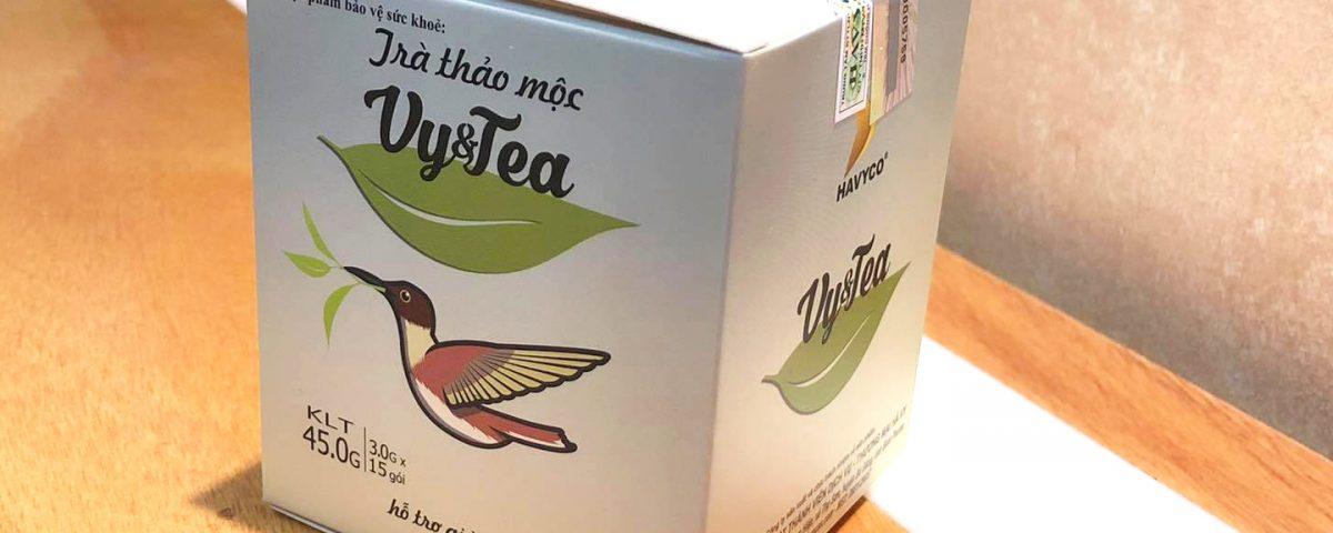 Quy cách đóng hộp Trà Vy Tea mới nhất